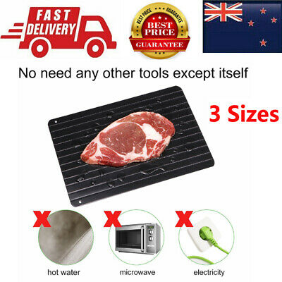 S L M Miracle Fast Rapid Defrost Tray Quick Thaw Rapid Defrosting Plate Meat AU