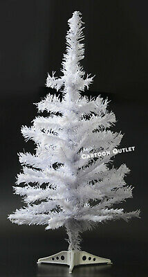 Small Christmas Tree White Artificial 2 Ft Table Top Natural Style Pine Tree