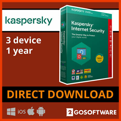 Kaspersky Internet Security 2020 3 Devices 1Year License 5 Min Email Delivery