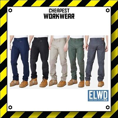 ELWD | Elwood Workwear | Mens Work Pants (Navy, Black, Khaki, Army, Char)not FXD