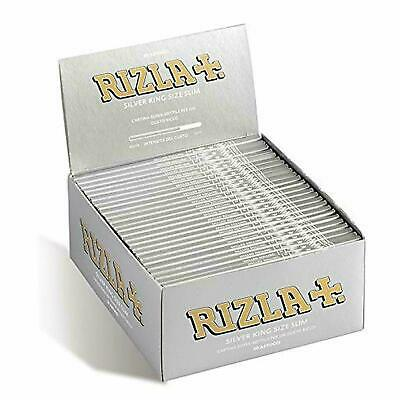 Rizla Silver King Size Slim Ultra Thin Skin Rolling Papers Cigarette Smoking