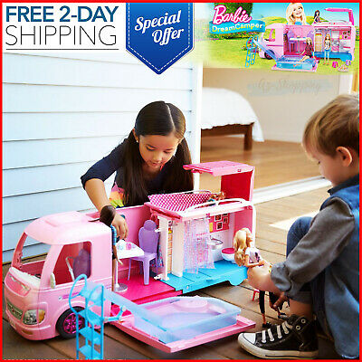 Barbie Dream Camper Adventure Camping Playset Toys Play Gift Holidays Christmas
