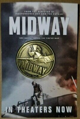 MIDWAY  movie promo pin New  With Free Flag Pin