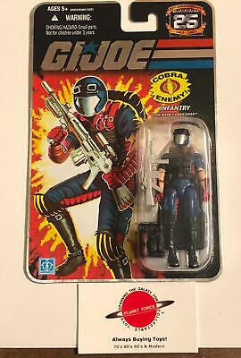 Cobra Enemy Soldier MOC GI Joe 25th Anniversary Silver Foil New Sealed