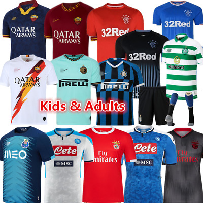 Club Football Kit Kids Adults Soccer Sports Jersey Strips Custom Christmas Gift