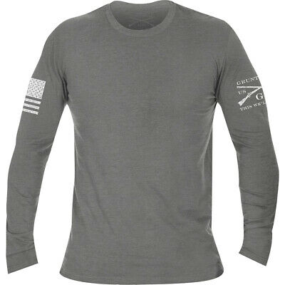 Grunt Style Basic Long Sleeve T-Shirt - Deep Heather