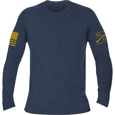 Grunt Style Basic Long Sleeve T-Shirt - Heather Navy