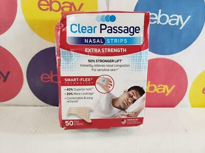 Clear Passage Nasal Strips Extra Strength, Tan, 50 count  READ