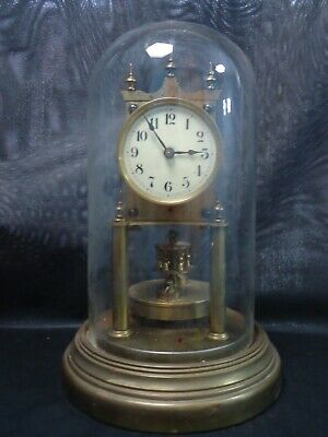 Antique Gustav Becker Anniversary Glass Domed Clock. Spares Or Repair