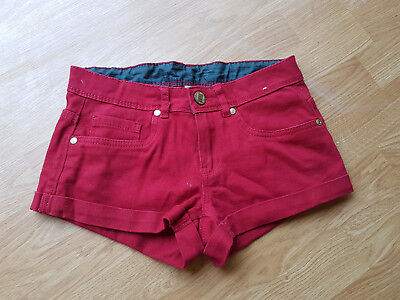 Denim & Co Size 6 Red Denim Shorts  Great Condition
