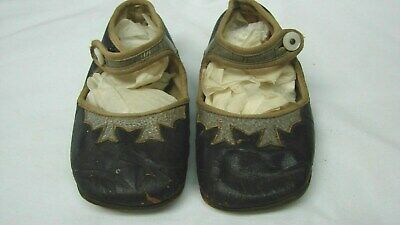 ANTIQUE EARLY 1900s LITTLE GIRLS BUTTON STRAP MARY JANES SHOES