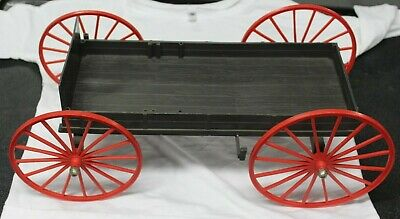 1965 Johnny West Covered Horse & Wagon w/ Harness Louis Marx Best Of The West