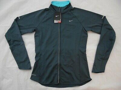 520359-479 NWT Women's Nike Element Thermal Stay Warm Running Jacket Grey Blue
