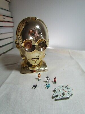 1994 Vintage Galoob Play Set of C-3PO Complete with All Micro Machines