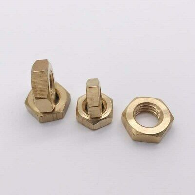 Select Size M6 M8 M10 M12 - M30 Solid Brass Thin Hex Nuts Right Hand Fine Thread