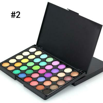 Pro 40colors Makeup Eyeshadow Palette Pressed Powder Shimmer W/ Eyeshadow Brush