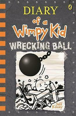 Diary of a Wimpy Kid #14: Wrecking Ball by Jeff Kinney Hardcover Book Free Shipp