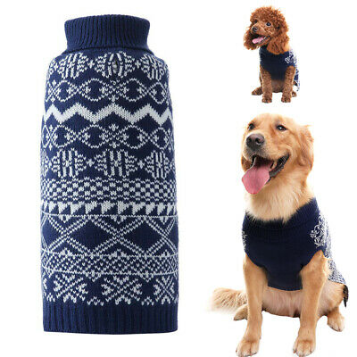 Christmas Pet Dog Jumper Pullover Sweater Small Medium Dog Clothes Set Outwear