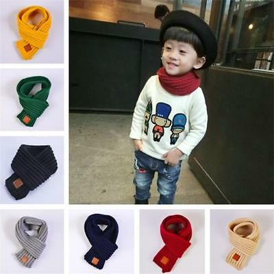 Baby Scarf Knit Winter Children Girls Boys Knitted Wool Kids Warm Scarf