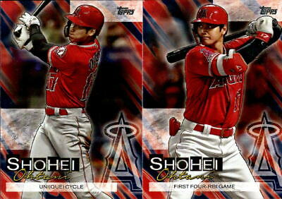 2019 Topps Update Series Shohei Ohtani Highlights Complete 20 Card Set #1-20