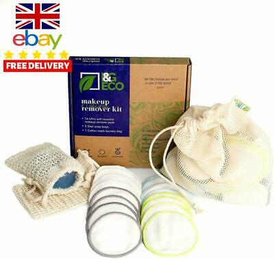 Reusable Cotton Pads | 16 Pcs Reusable Makeup Remover Pads +2 Sisal Soap Bags +1