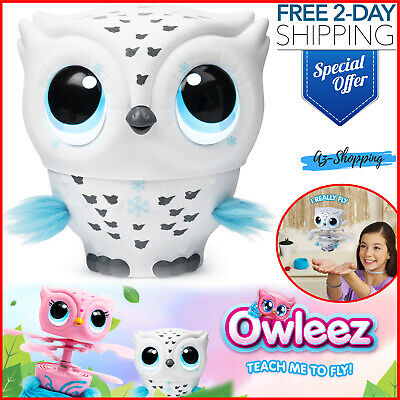 Owleez Flying Baby Owl Interactive Lights Sounds Kids Toys Play Gift Holidays