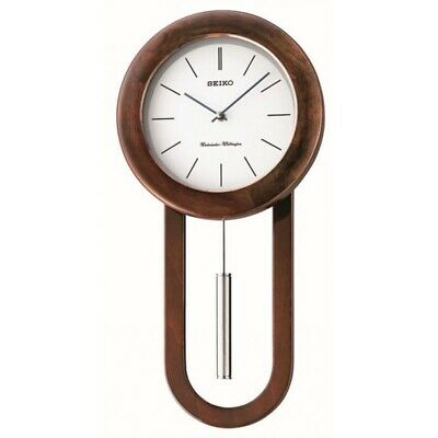Seiko Long Case Pendulum Chiming Wall Clock - QXH057B NEW