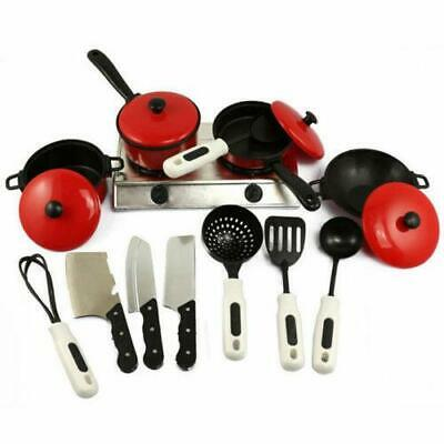 13PCS Pretend Play Kitchen Set For Kids Cooking Food Toy Fun Playset  Great Gift