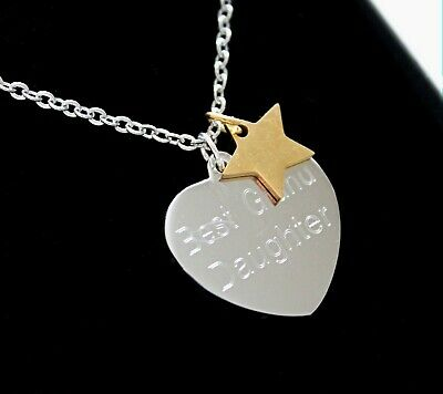 ENGRAVED Necklace Gold Star Charm Personalised Jewellery Christmas Birthday Gift