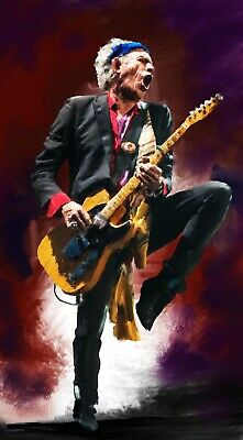 Keith Richards large original paintings in acrylic on canvas by Brian Tones