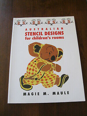 Australian Stencil Designs for Children's Rooms: Magie M .Maule :1990 : Preloved