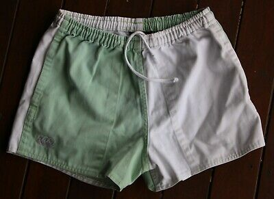 Canterbury White and Green Shorts (Size: Child's Unisex 28 Inches)