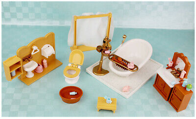 Christmas Gift Living Bath Room Fish Tank Set Furnitures for Sylvanian Families