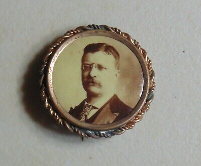 Theodore Roosevelt 1904 campaign pin button political