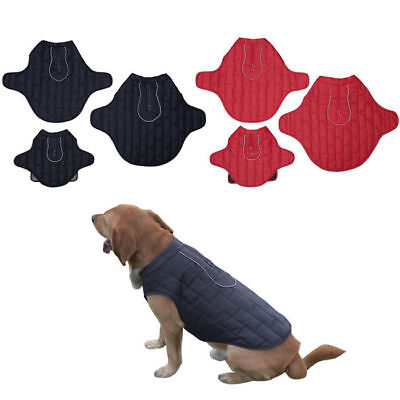 Pet Dog Puppy Cat Winter Warm Coat Quilted Padded Jacket Vest Clothes Insulated