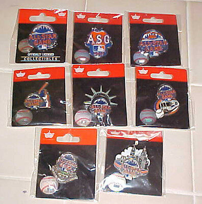 Group Of 8 Different 2013 All Star Game Logo Pins New York Mets