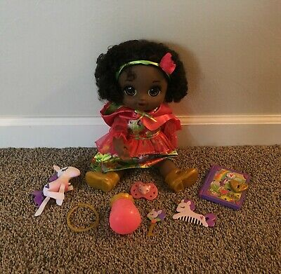 EUC Lot of 2 Once Upon A Baby Alive Forest Tales w/Acc Blonde + African American