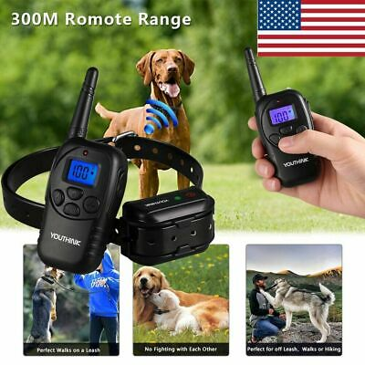 Waterproof Electric 330 Yard Remote Pet Trainer Shock Training Collar for 1 Dog
