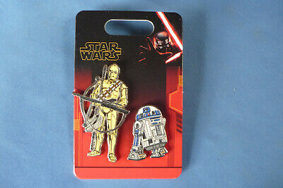 STAR WARS 2019   Disney Pin 2 Pins ONE CARD #1  R2D2 and  New on card