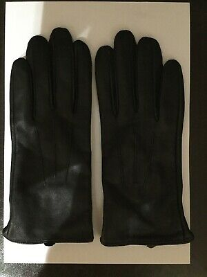Womens Black Leather Gloves Size Small - Medium
