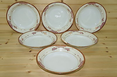 Soko Three Cherries (6) Rimmed Soup or Cereal Bowls, 7 7/8""