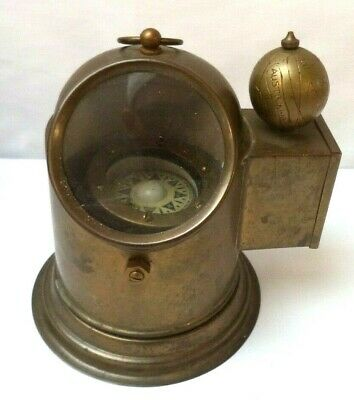 Vintage Estate C Plath Hamburg Germany Brass Ship's Floating Binnacle Compass