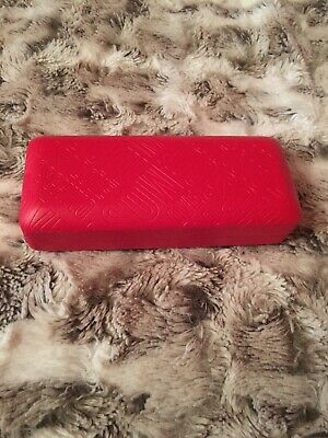 Designer LOVE MOSCHINO Red Glasses Case And Black Cleaning Cloth. New