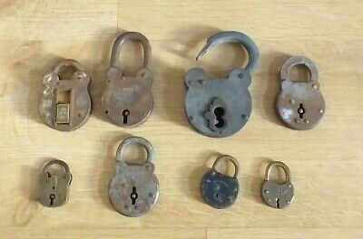 Joblot Of Vintage/antique Padlocks Corbin Union Era Lever