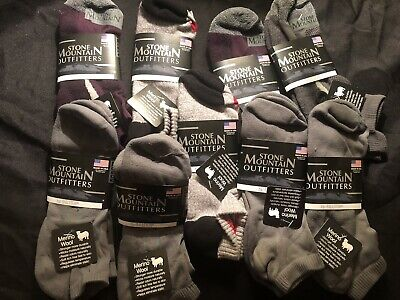 70% Merino Wool Low cut Socks 9 pairs Large