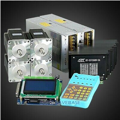 Revolutionary 5A TB6600HG Stepper Controller CNC Kit 4 Axis Nema24 3.3Nm Motor