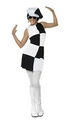 Smiffys Swinging Sixties Party Girl GoGo Mod Womens Ladies Fancy Dress Outfit M