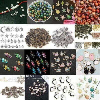 100X Mixed Conch Shell Animal Flowers Beads Charm Pendant DIY Jewelry Making