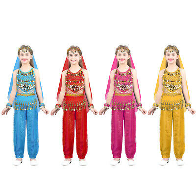 Arabian 2-piece RED Costume AGE 5-7 Girls Princess Ballet Aladdin Trousers Dance