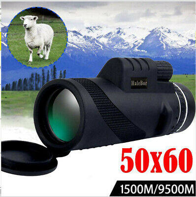 High Power 50X60 HD Monocular Telescope Shimmer Night Vision Outdoor Hiking